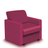 Contemporary Modular Fabric Low Back Sofa - Armchair - Red