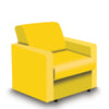 Contemporary Modular Fabric Low Back Sofa - Armchair - Yellow