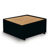 Contemporary Modular Fabric Table Unit with Beech Top - Black