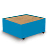 Contemporary Modular Fabric Table Unit with Beech Top - Blue