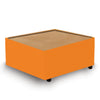 Contemporary Modular Fabric Table Unit with Beech Top - Orange