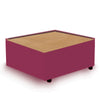 Contemporary Modular Fabric Table Unit with Beech Top - Red