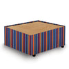 Contemporary Modular Fabric Table Unit with Beech Top - Stripes