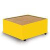 Contemporary Modular Fabric Table Unit with Beech Top - Yellow