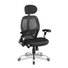 Ergonomic Luxury High Back Executive Mesh Chair with Chrome Base Certified for 24 Hour Use - Black