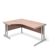 Aspire - Ergonomic Left Hand Corner Desk - 1400mm Wide with Cable Management & Modesty Panels