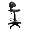 Derwent - Polyurethane Draughtsman Chair with Spring Loaded Backrest Mechanism