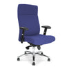 High Back Synchro Executive Armchair with Adjustable Arms And Chrome Base - Blue