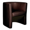Milano - Stylish & Modern Low Back Leather Faced Tub Chair