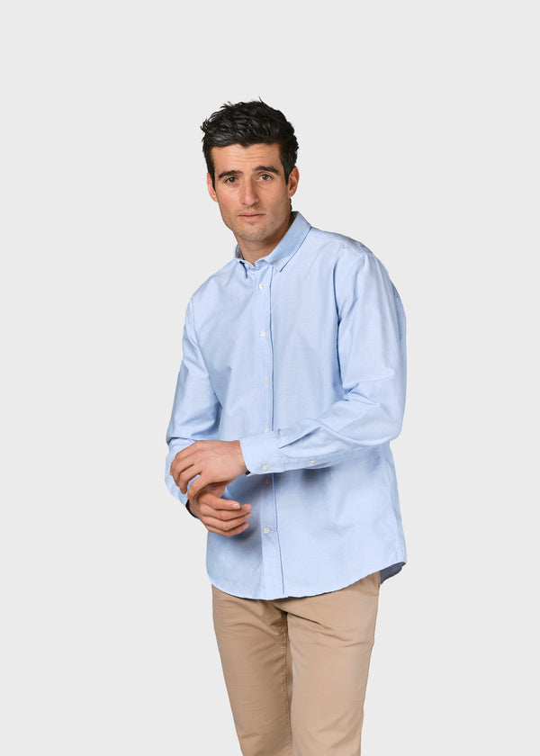 Klitmøller Collective ApS Basic shirt Shirts Blue melange