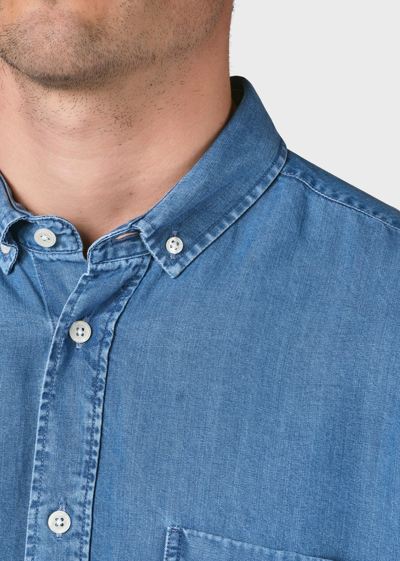 Klitmøller Collective ApS Benjamin chambrey shirt Shirts Light blue