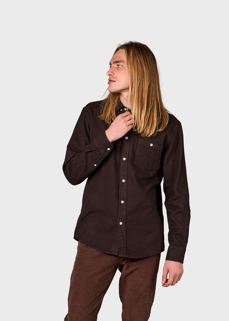 Klitmøller Collective ApS Benjamin lumber shirt Shirts Earth