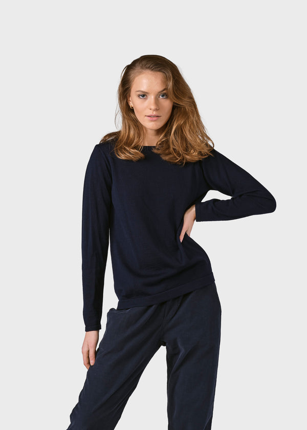 Klitmøller Collective ApS Charlotte knit Knitted sweaters Navy