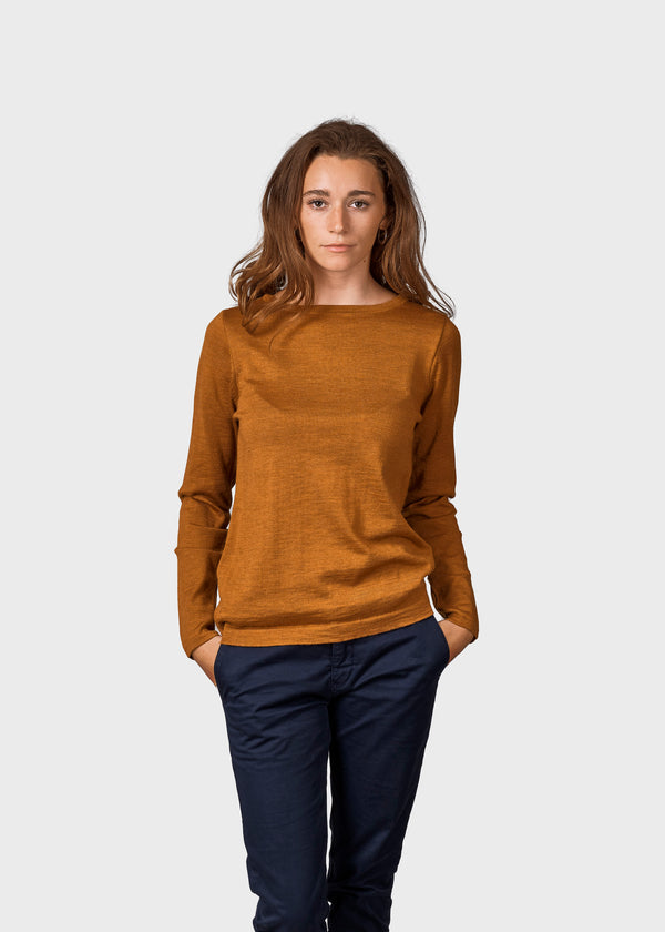 Klitmøller Collective ApS Charlotte knit Knitted sweaters Amber