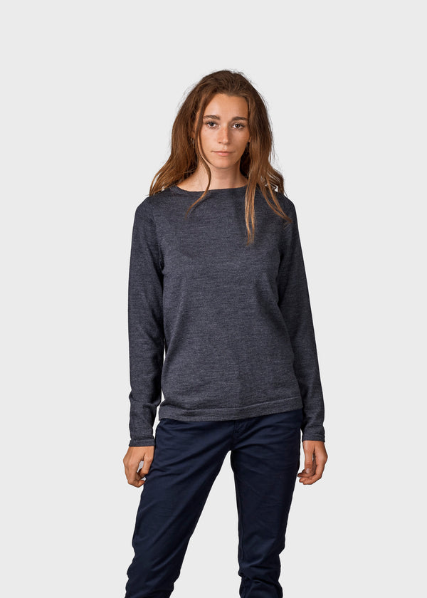 Klitmøller Collective ApS Charlotte knit Knitted sweaters Anthracite