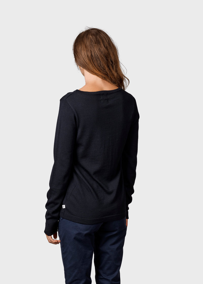 Klitmøller Collective ApS Charlotte knit Knitted sweaters Black