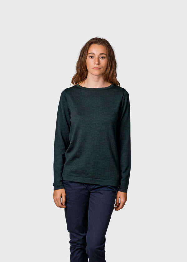 Klitmøller Collective ApS Charlotte knit Knitted sweaters Olive