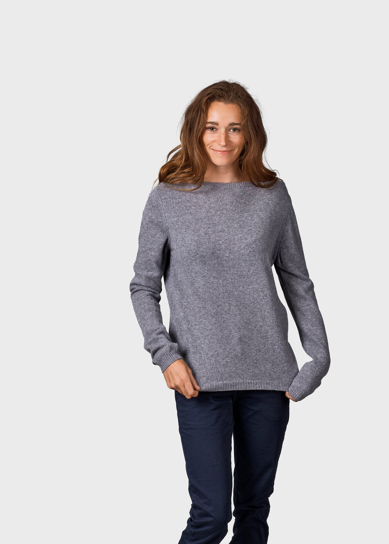 Klitmøller Collective ApS Daniella knit Knitted sweaters Light grey