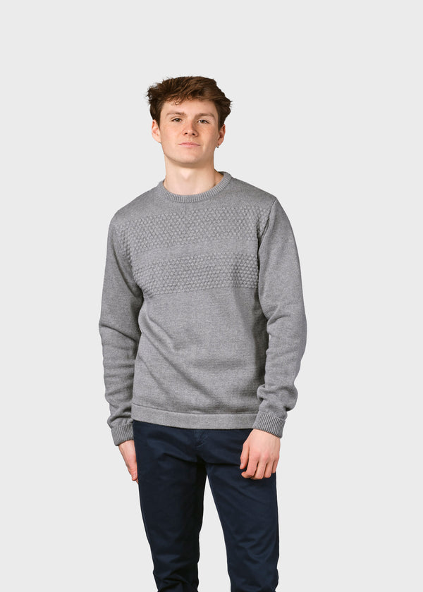Klitmøller Collective ApS Herbert knit Knitted sweaters Light grey