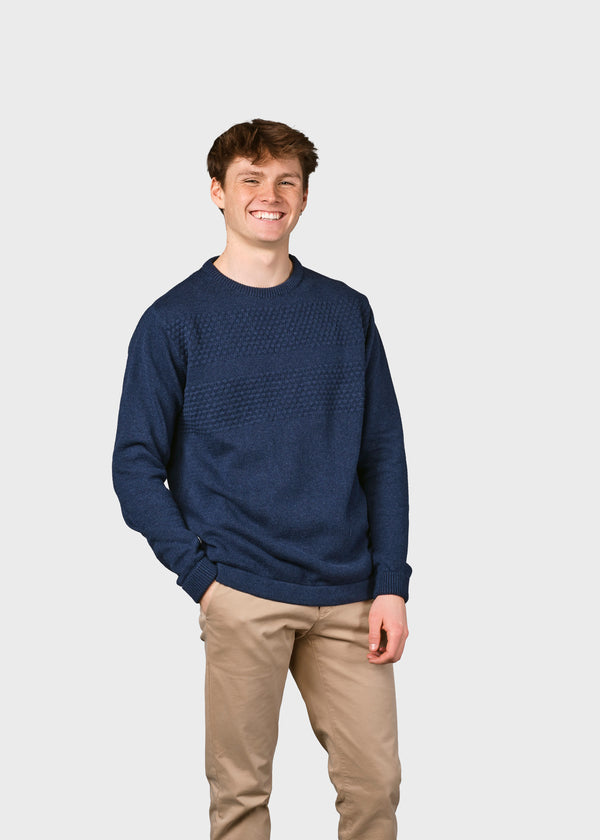 Klitmøller Collective ApS Herbert knit Knitted sweaters Ocean