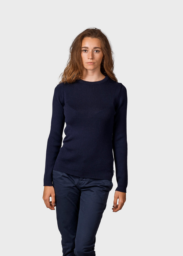 Klitmøller Collective ApS Ingrid knit Knitted sweaters Navy