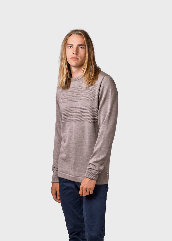 Klitmøller Collective ApS Johan knit Knitted sweaters Sand