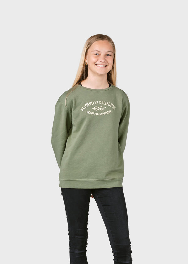 Klitmøller Collective ApS Kids logo eye crew Sweatshirts Pale green