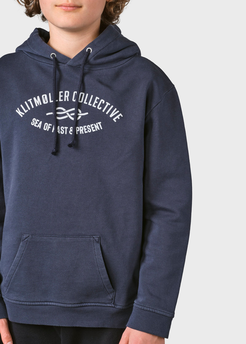 Klitmøller Collective ApS Kids logo eye hoodie Sweatshirts Navy