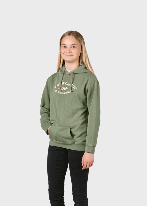 Klitmøller Collective ApS Kids logo eye hoodie Sweatshirts Pale green