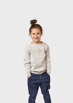 Klitmøller Collective ApS Kids pattern cotton knit Knitted sweaters Cream