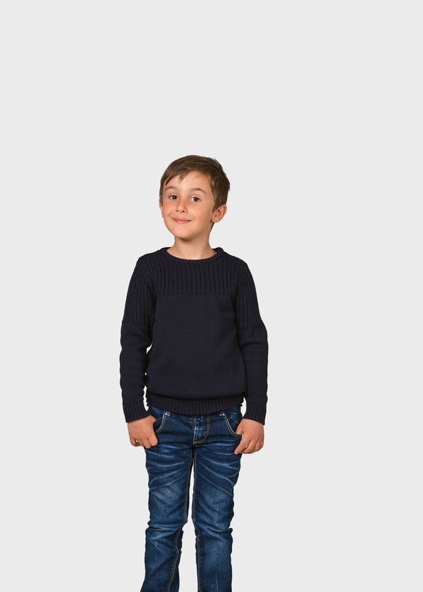 Klitmøller Collective ApS Kids pattern cotton knit Knitted sweaters Navy