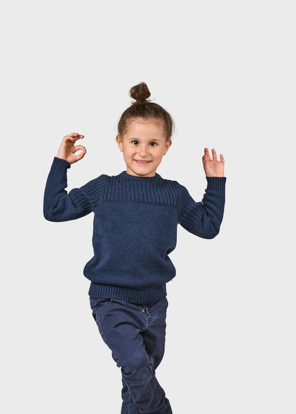 Klitmøller Collective ApS Kids pattern cotton knit Knitted sweaters Ocean