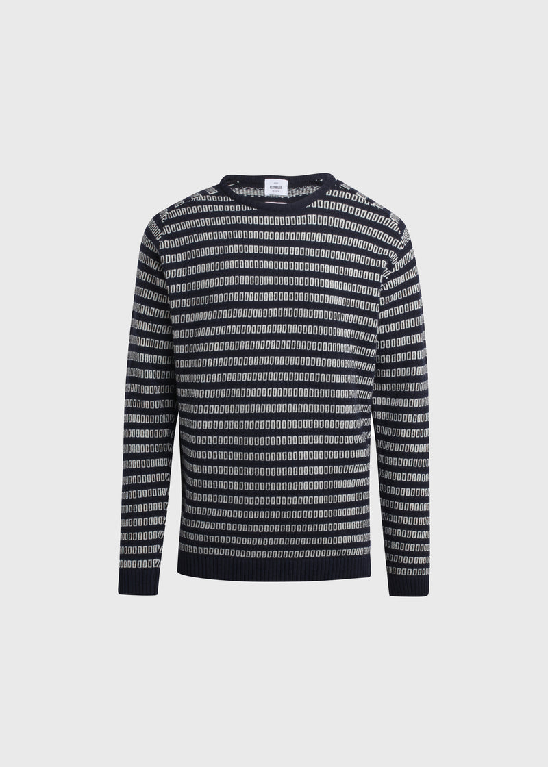 Klitmøller Collective ApS Laurits knit Knitted sweaters Navy base