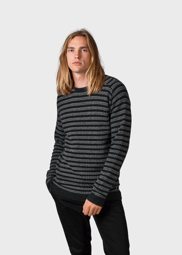 Klitmøller Collective ApS Laurits knit Knitted sweaters Olive base