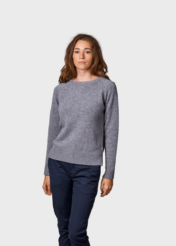 Klitmøller Collective ApS Nina knit Knitted sweaters Light grey