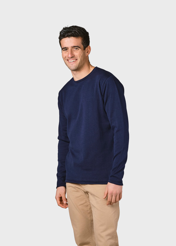 Klitmøller Collective ApS Noah knit Knitted sweaters Navy