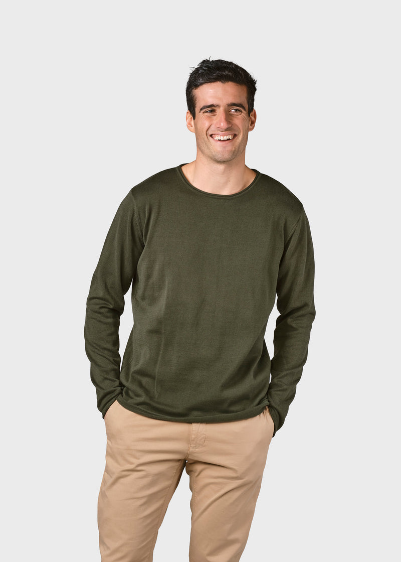 Klitmøller Collective ApS Noah knit Knitted sweaters Olive