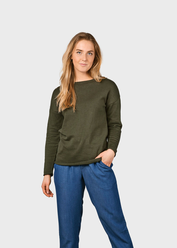 Klitmøller Collective ApS Patricia knit Knitted sweaters Olive