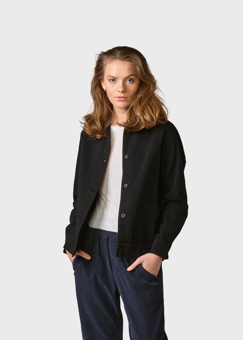 Klitmøller Collective ApS Rita twill jacket Jackets Black