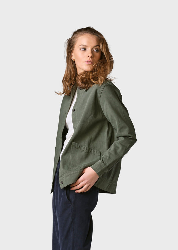 Klitmøller Collective ApS Rita twill jacket Jackets Olive