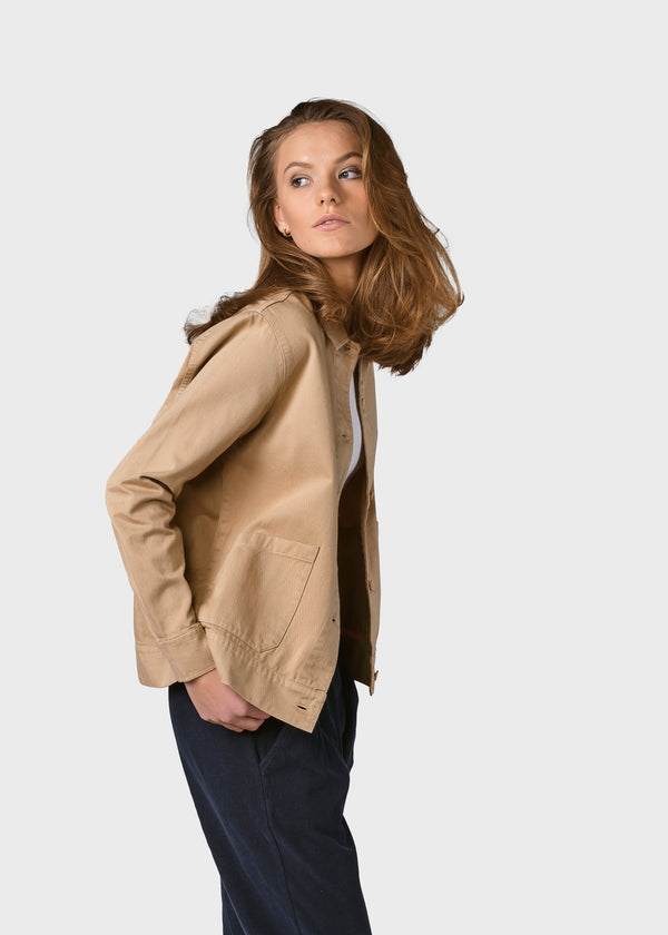 Klitmøller Collective ApS Rita twill jacket Jackets Sand