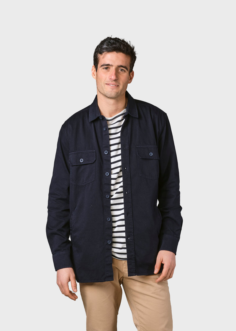 Klitmøller Collective ApS Svend twill jacket  Jackets Navy