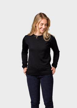 Klitmøller Collective ApS Womens basic merino knit Knitted sweaters Black