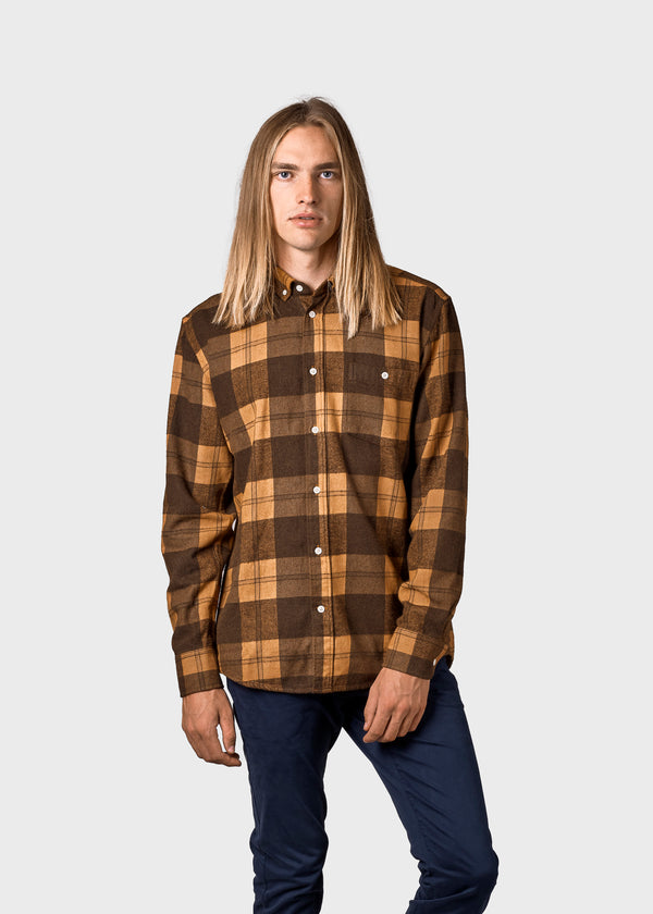 Klitmøller Collective ApS Nikolaj shirt Shirts Hazel/black