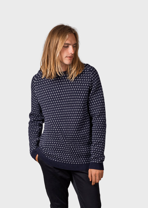 Klitmøller Collective ApS Hugo knit Knitted sweaters Navy/cream