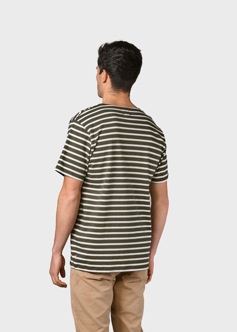 Klitmøller Collective ApS Albert tee T-Shirts Olive/cream