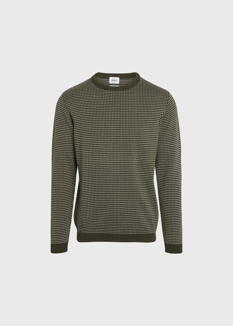 Klitmøller Collective ApS Otto knit Knitted sweaters Olive/cream
