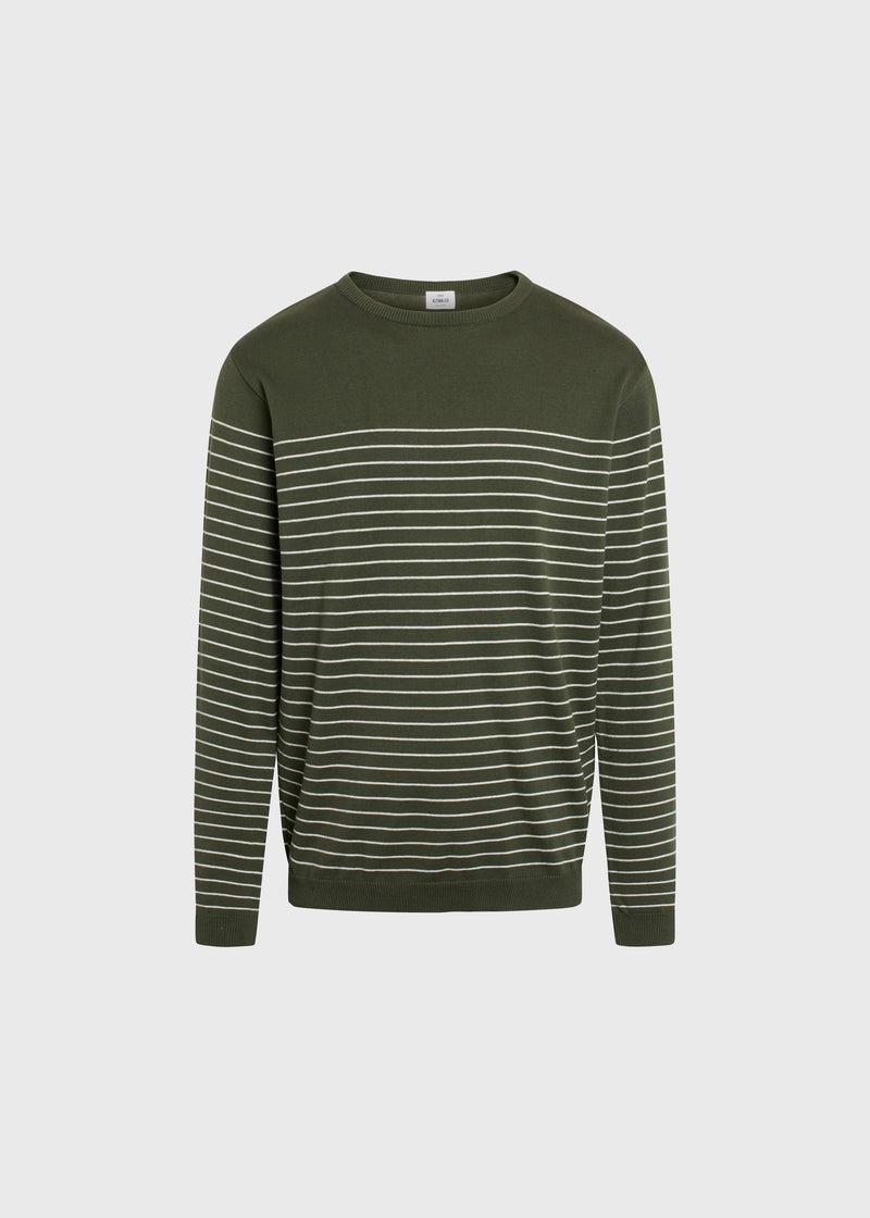 Klitmøller Collective ApS Elias knit Knitted sweaters Olive/cream