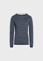 Silje knit - Navy/cream