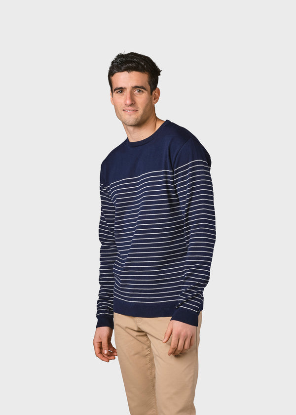 Klitmøller Collective ApS Elias knit Knitted sweaters Navy/cream